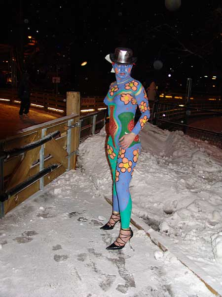 Bodypaint in der Polarnacht