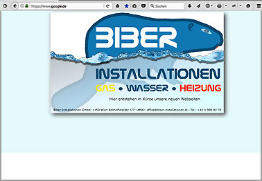 Webseite http://biber-installationen.at
