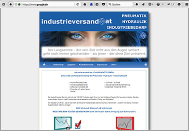 Webseite http://industrieversand.at