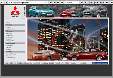 Webseite http://mitsubishi-forstner.at
