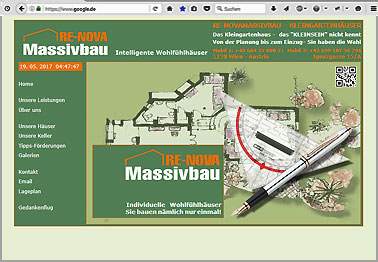 Webseite http://re-novamassivbau.at