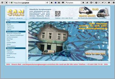 Webseite http://san-glas.at